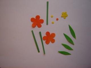isečeni cvetići