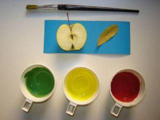 Prepolovljena jabuka