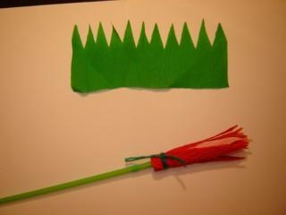 zeleni krep papir