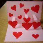 3D čestitka sa srcima