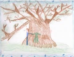 deciji crtez drveta